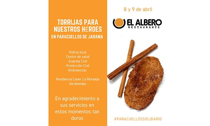 El Restaurante El Albero y Paracuellos Solidario